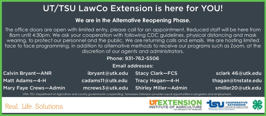 UT/TSU LawCo Extension Contact Information Sheet